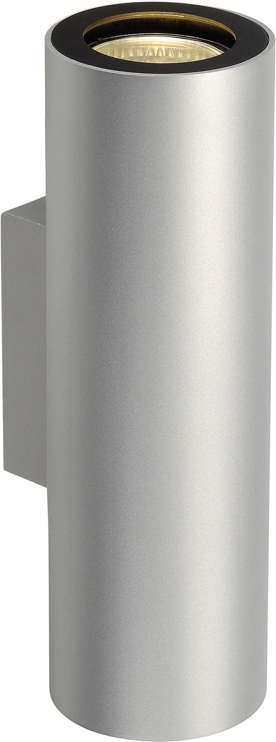 Nástěnné světlo GU10 100 W LED, halogenová žárovka SLV Enola_B 151804 stříbrnošedá, černá