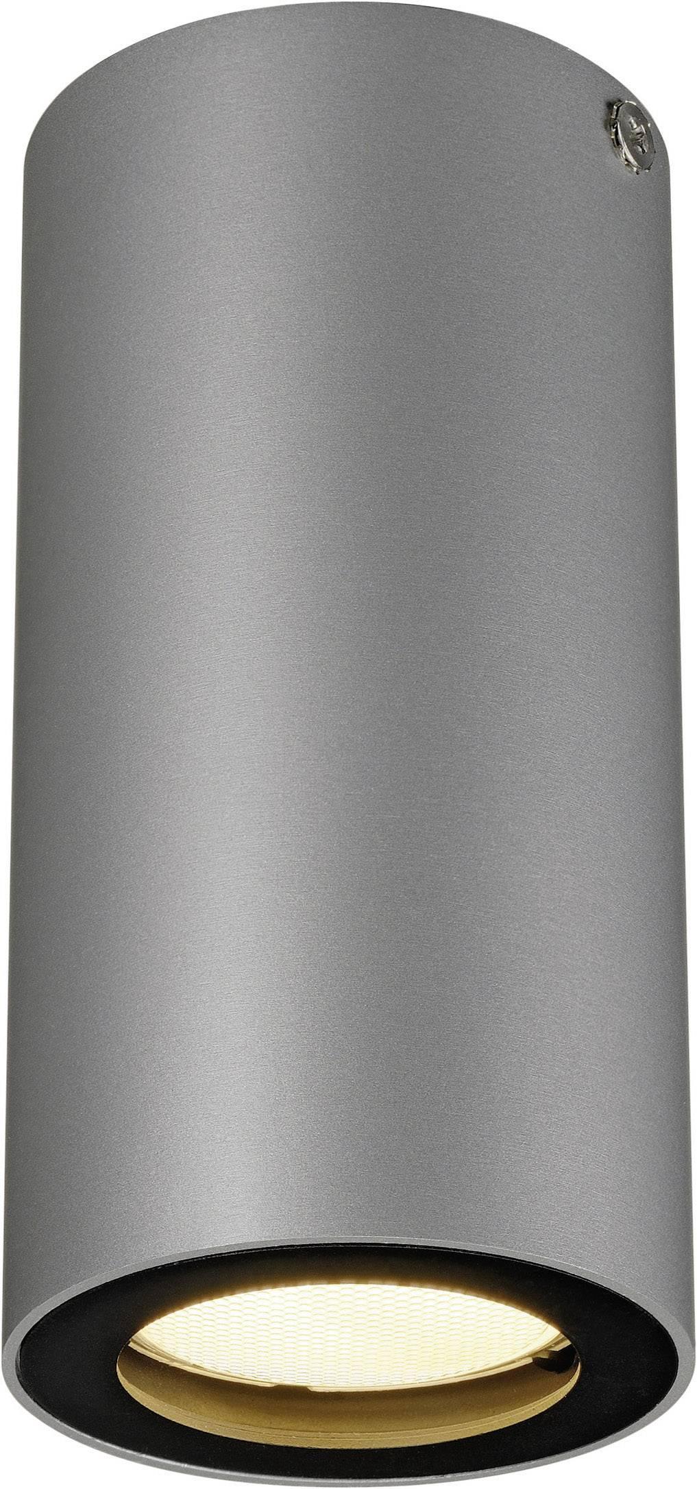 Stropné svetlo halogénová žiarovka, LED SLV Enola_B 151814, GU10, 35 W, sivá, čierna