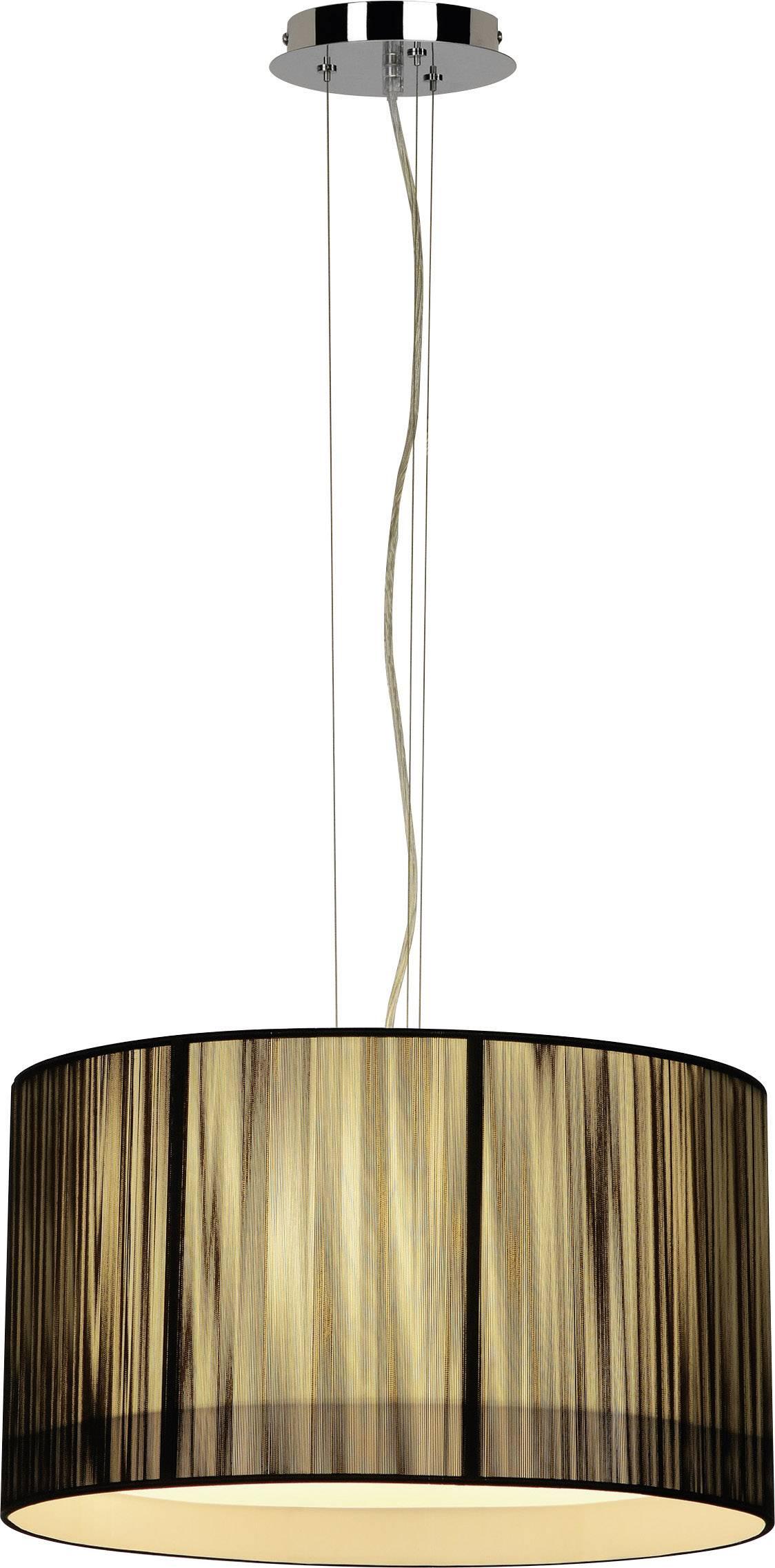 Závesné svietidlo halogénová žiarovka, úsporná žiarovka SLV Lasson 155300, E27, 180 W, čierna, béžová
