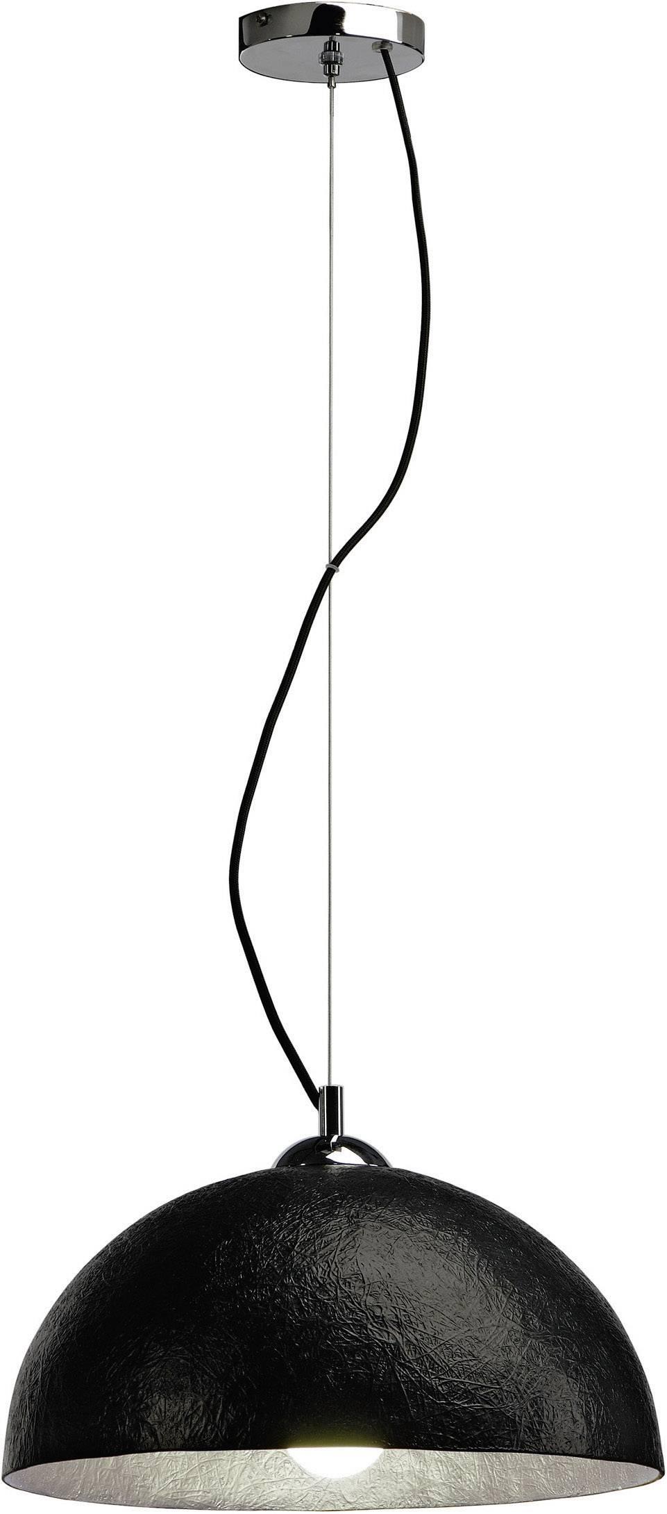 Závesné svietidlo LED SLV Forchini 155500, E27, 40 W, čierna, strieborná