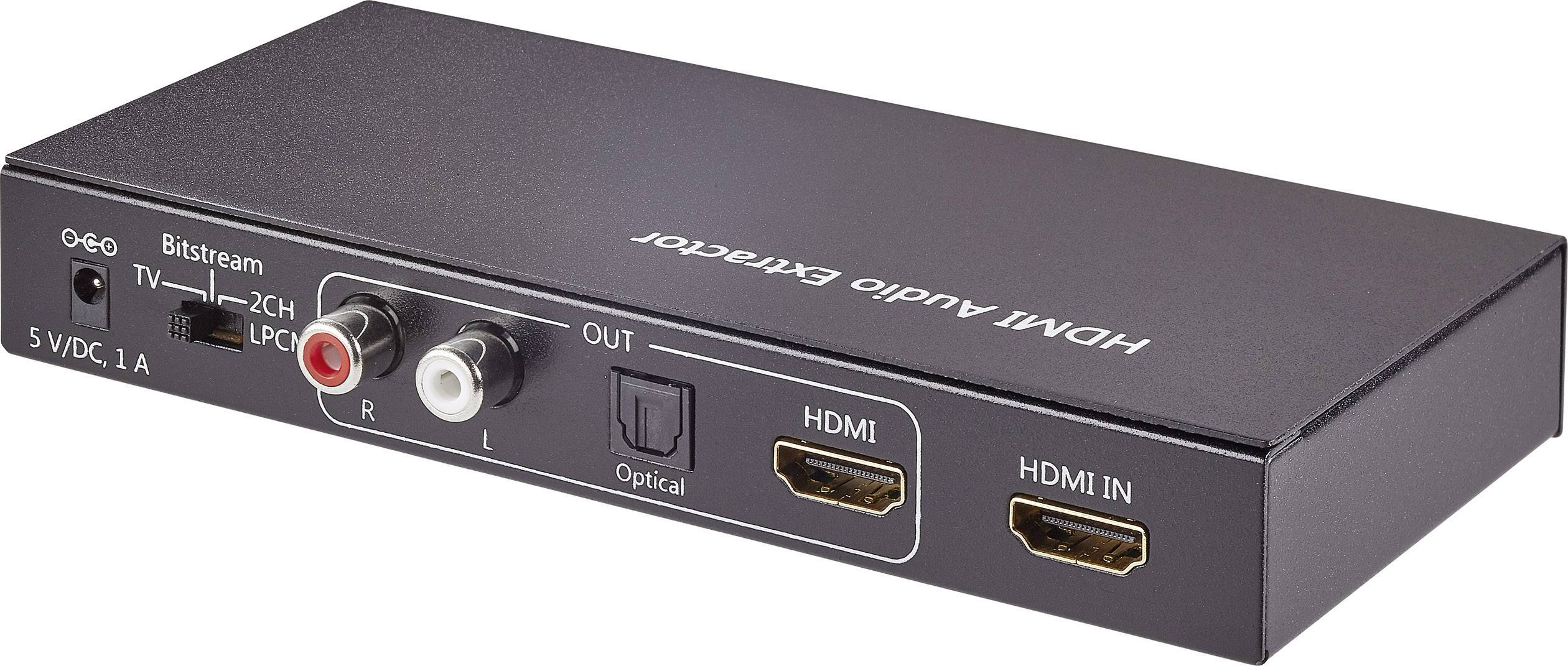Audio extraktor HDMI zásuvka ⇒ cinch zásuvka, Toslink zásuvka (ODT), HDMI zásuvka SpeaKa Professional SP-AE-H/TC-02 SP-4916320
