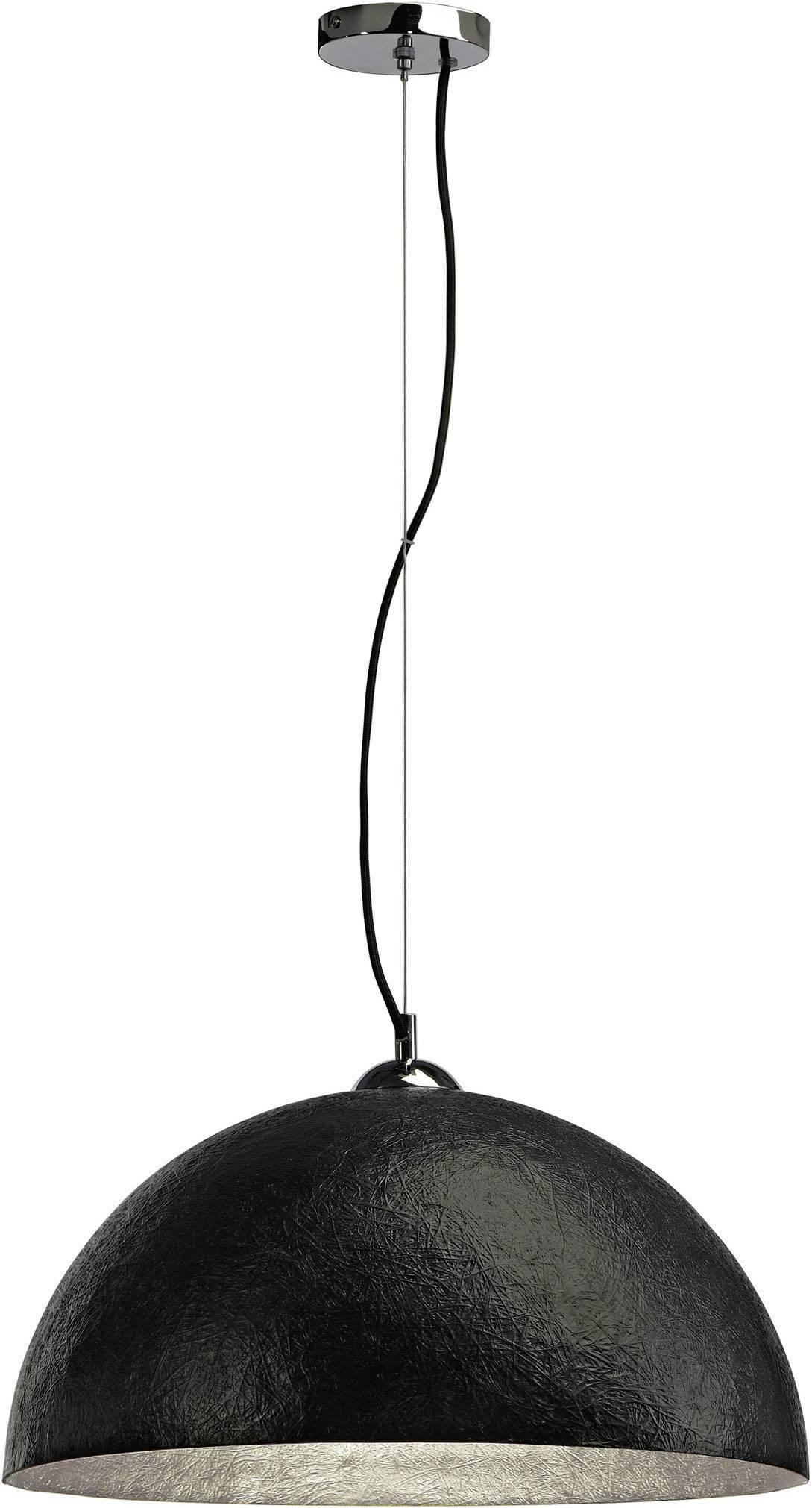 Závesné svietidlo LED SLV Forchini 155520, E27, 40 W, čierna, strieborná