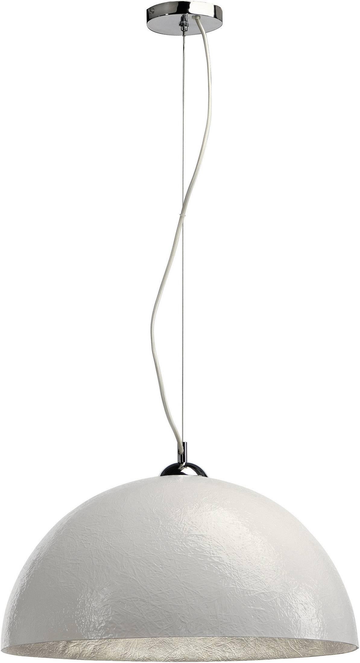 Závesné svietidlo LED SLV Forchini 155521, E27, 40 W, biela, strieborná