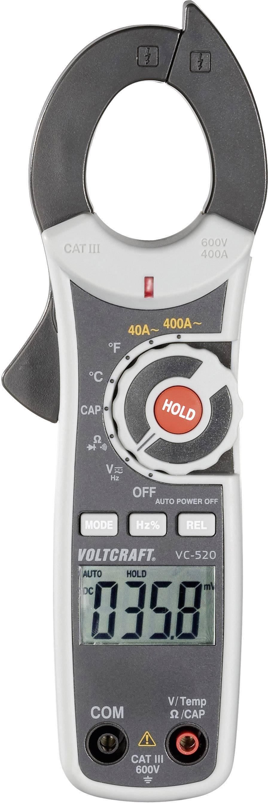 Mini klešťový multimetr Voltcraft VC-520, AC