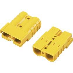 Bateriový konektor TRU COMPONENTS 1229370, žlutá, 1 ks