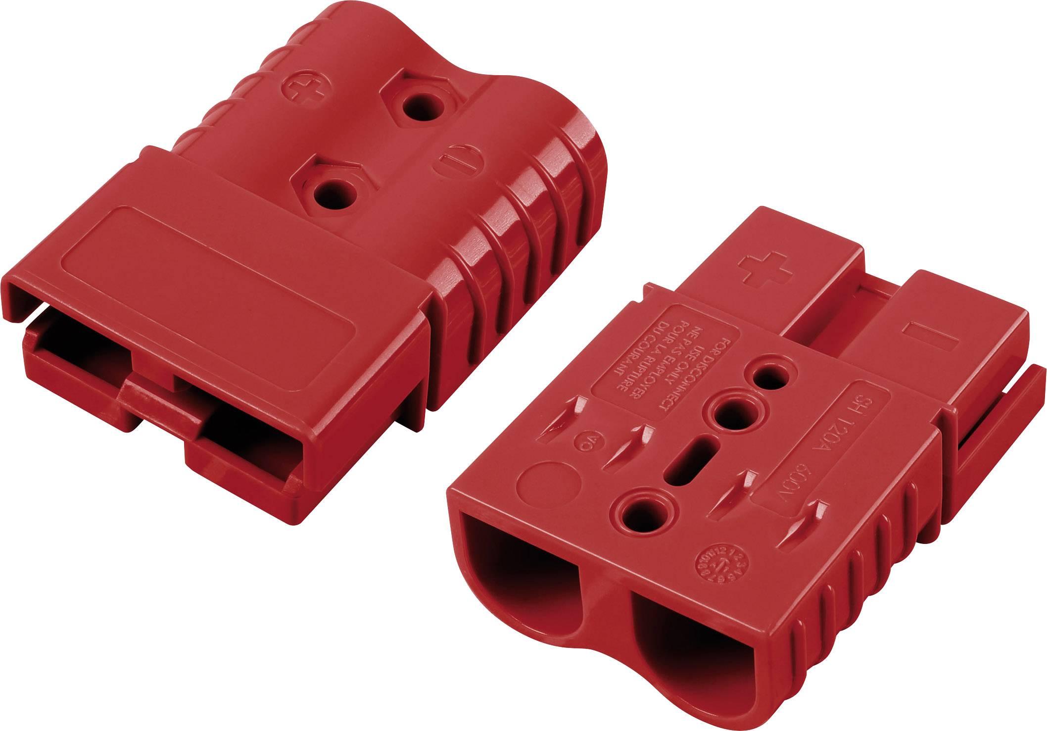 Konektor TRU COMPONENTS 1229372, červená, 1 ks