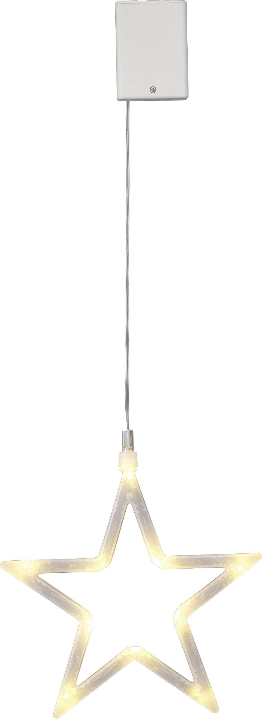 Hviezda LED vianočná dekorácia Polarlite LBA-50-012, priehľadná