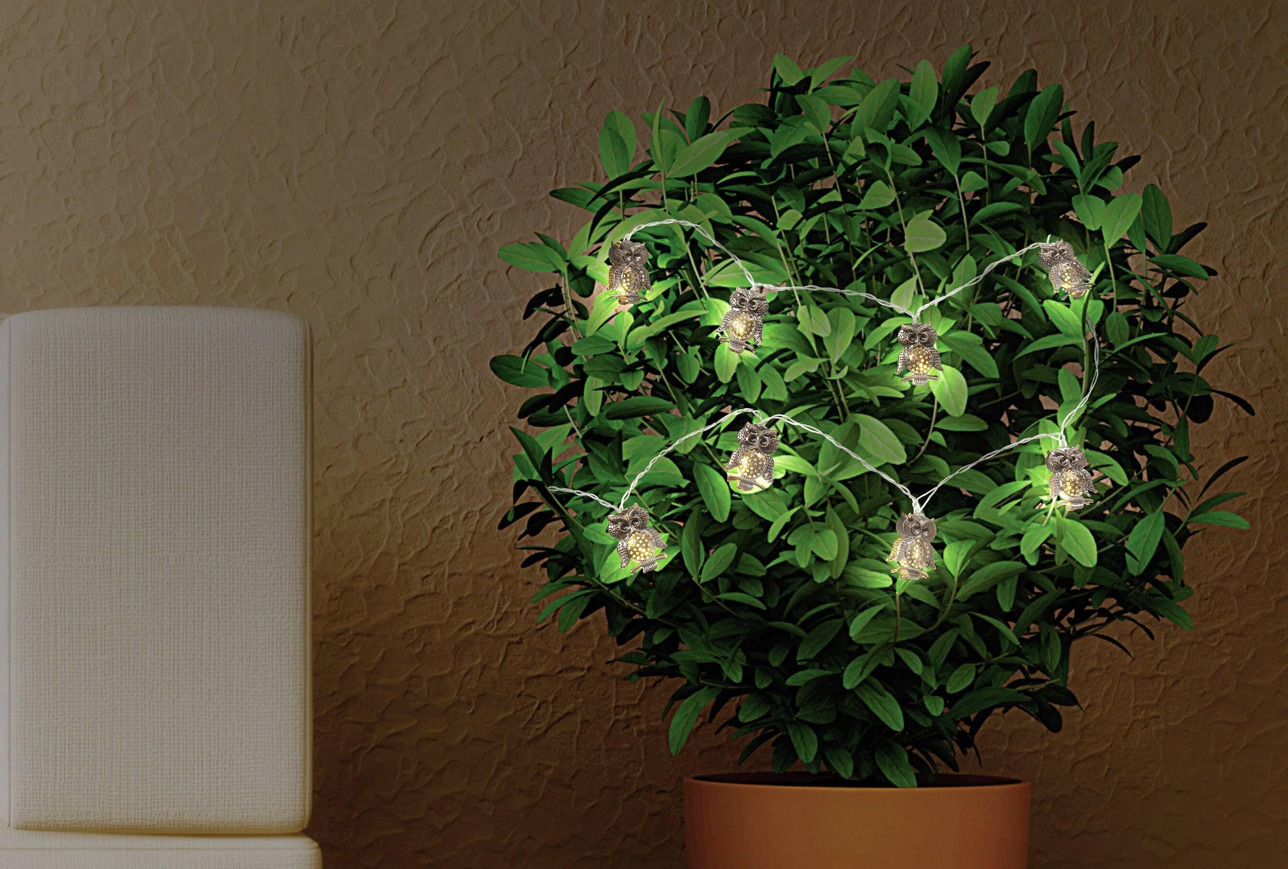 Svetelná LED reťaz so sovami Polarlite, LBA-20-004, 8 LED, 155 cm