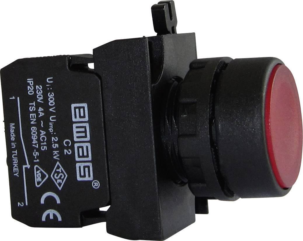 Stláčacie tlačidlo EMAS CP200DK, červená, 1 ks