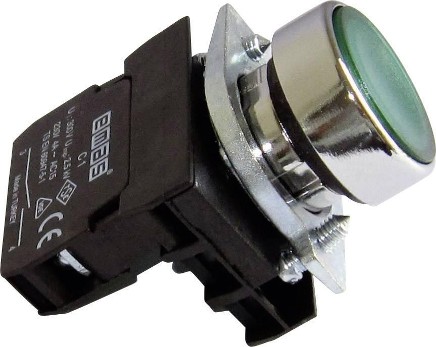 Stláčacie tlačidlo EMAS CM100DY, zelená, 1 ks