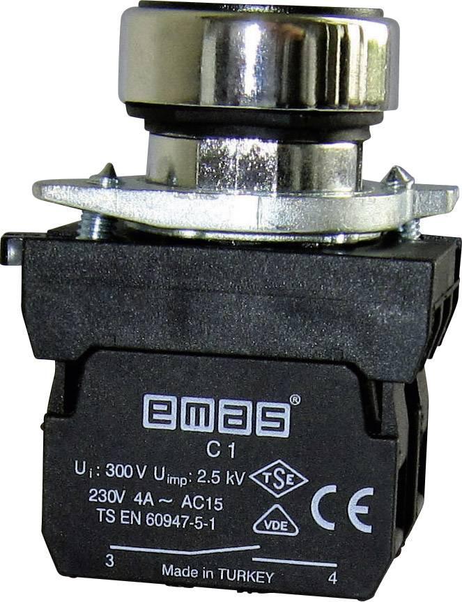 Stláčacie tlačidlo EMAS CM101DY, zelená, 1 ks