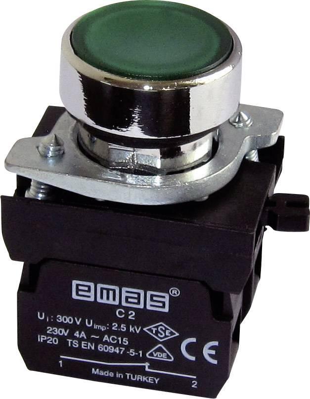 Stláčacie tlačidlo EMAS CM202DY, zelená, 1 ks