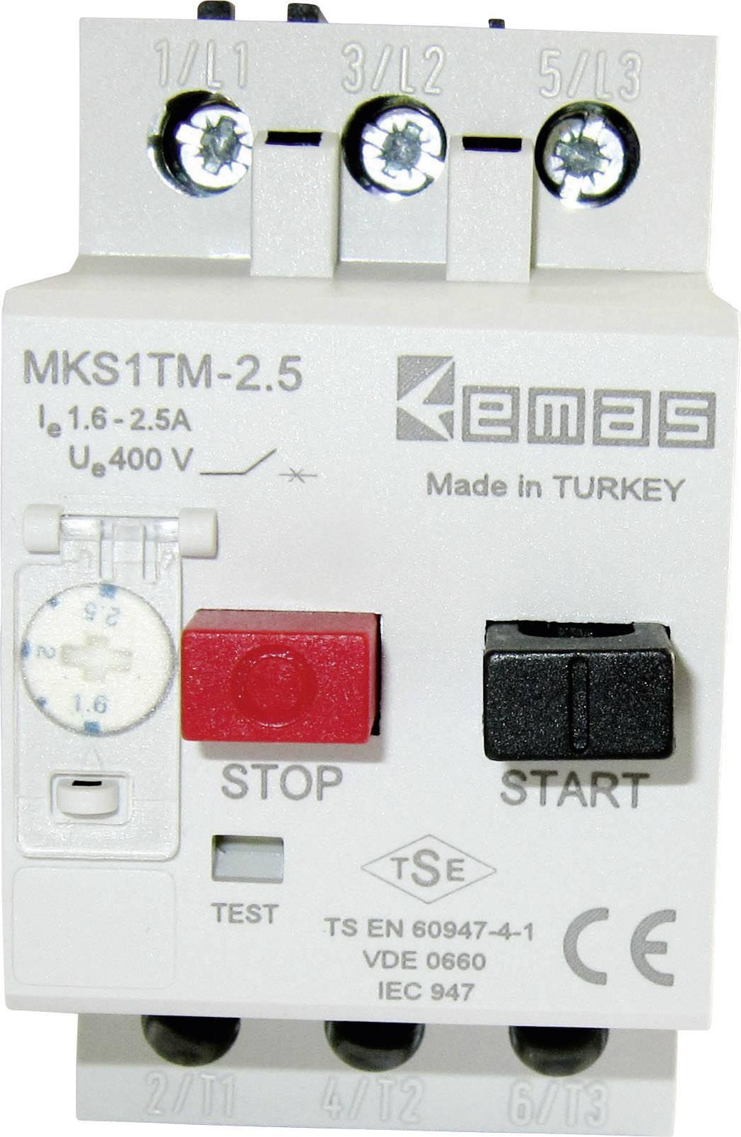 Ochranný spínač motoru EMAS MKS1TM-2.5, 400 V/AC, 2.5 A 1 ks