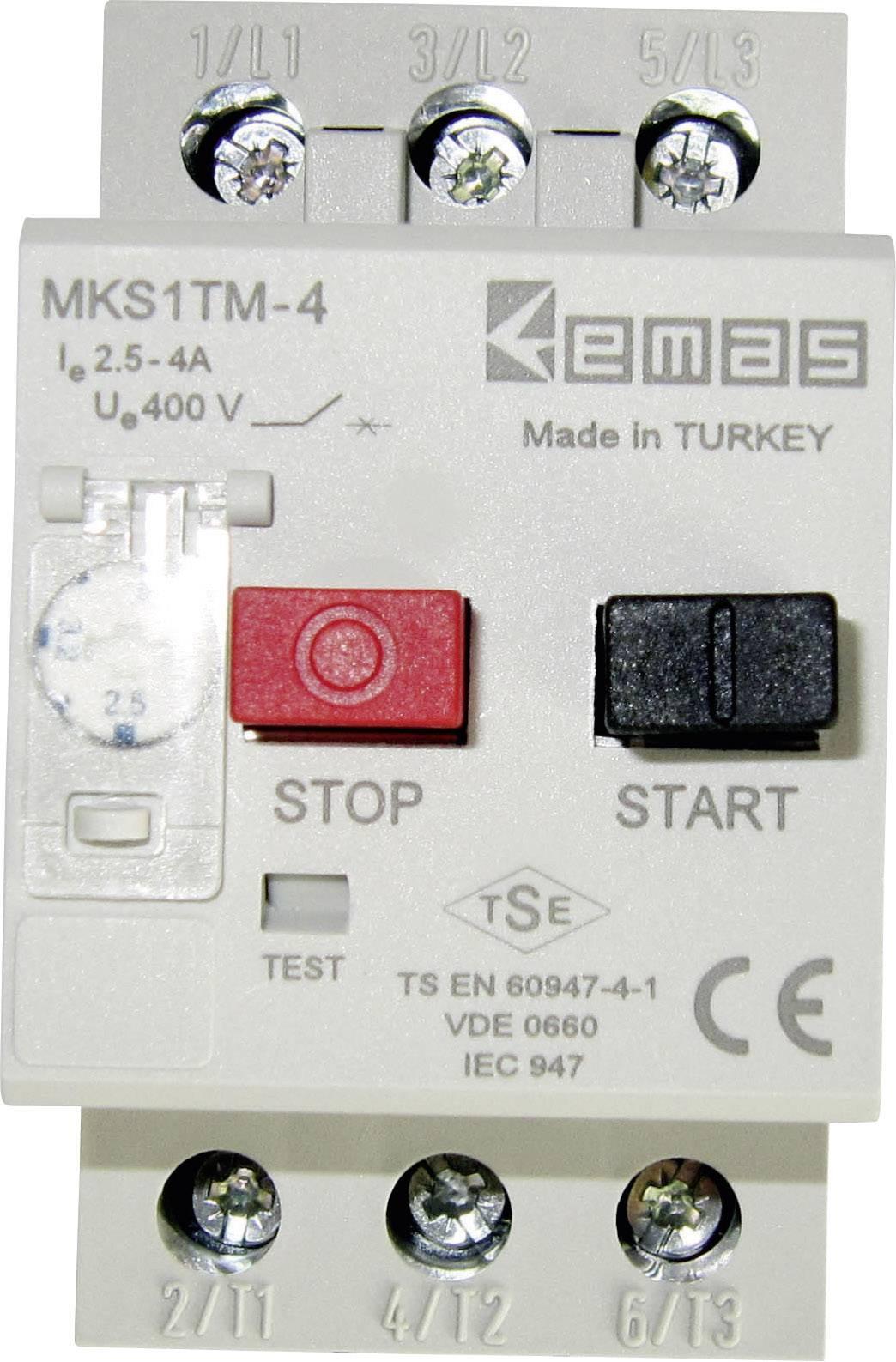 Ochranný spínač motora EMAS MKS1TM-4 MKS1TM-4, 400 V/AC, 4.0 A, 1 ks