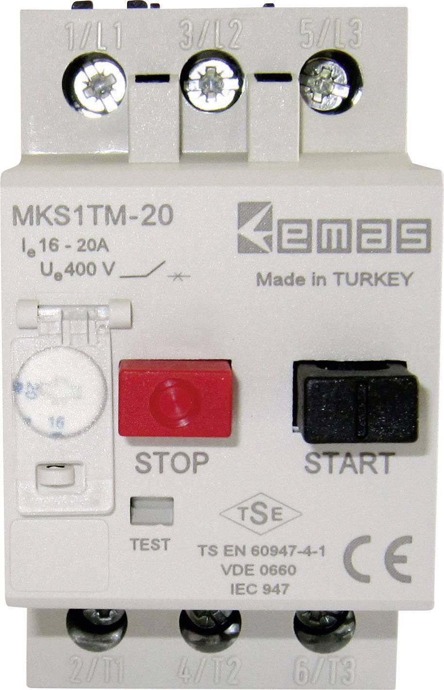 Ochranný spínač motora EMAS MKS1TM-20 MKS1TM-20, 400 V/AC, 20.0 A, 1 ks