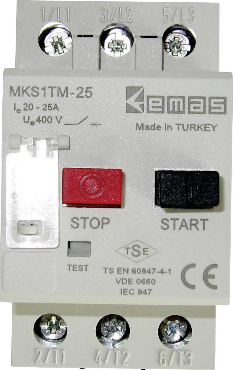 Ochranný spínač motora EMAS MKS1TM-25 MKS1TM-25, 400 V/AC, 25.0 A, 1 ks