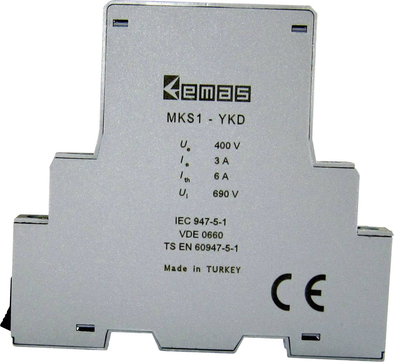 Pomocný spínač EMAS MKS1-YKD01 MKS1-YKD01, 1 spínací, 1 rozpínací, 400 V/AC, 3 A, 1 ks