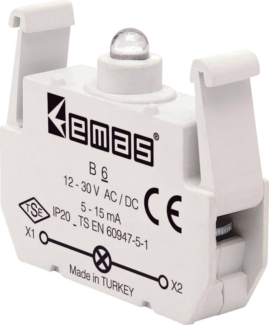LED element EMAS B6, červená, 30 V DC/AC, 1 ks