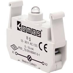 LED kontrolka EMAS B6, červená, 30 V DC/AC, 1 ks