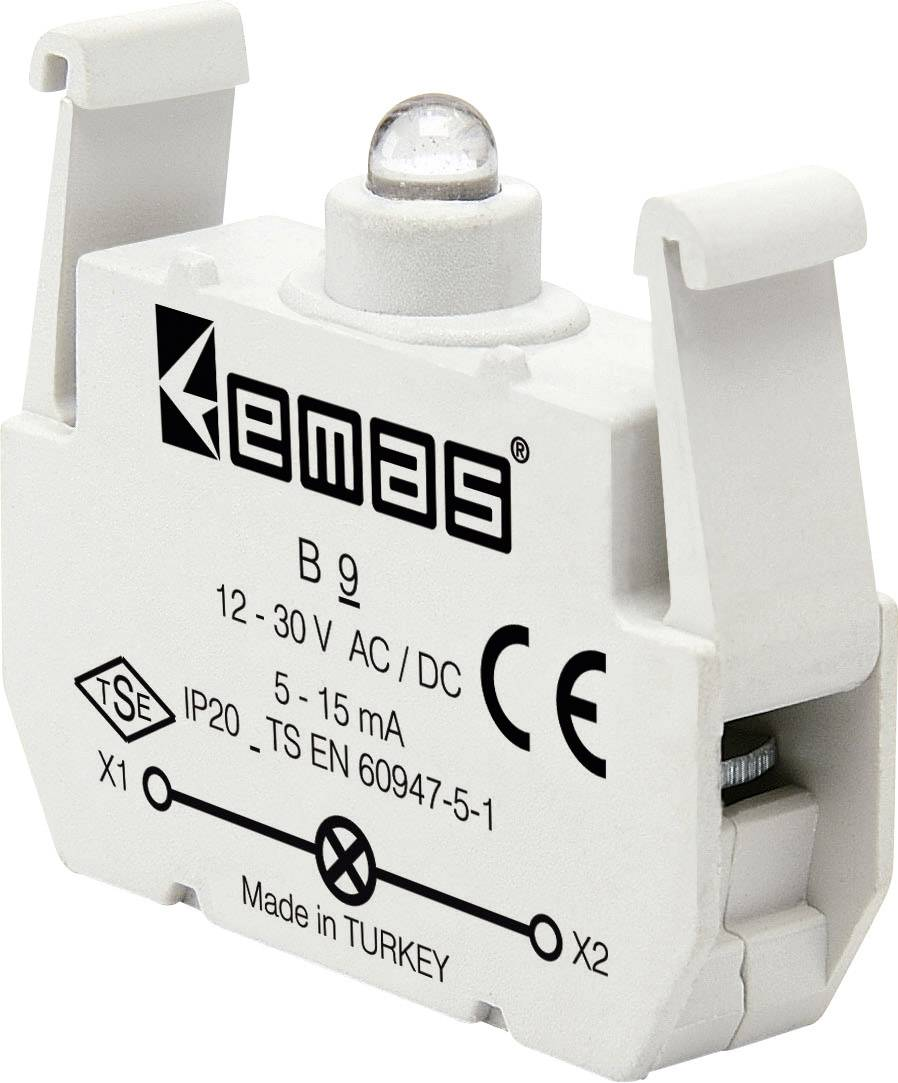 LED element EMAS B9, zelená, 30 V DC/AC, 1 ks