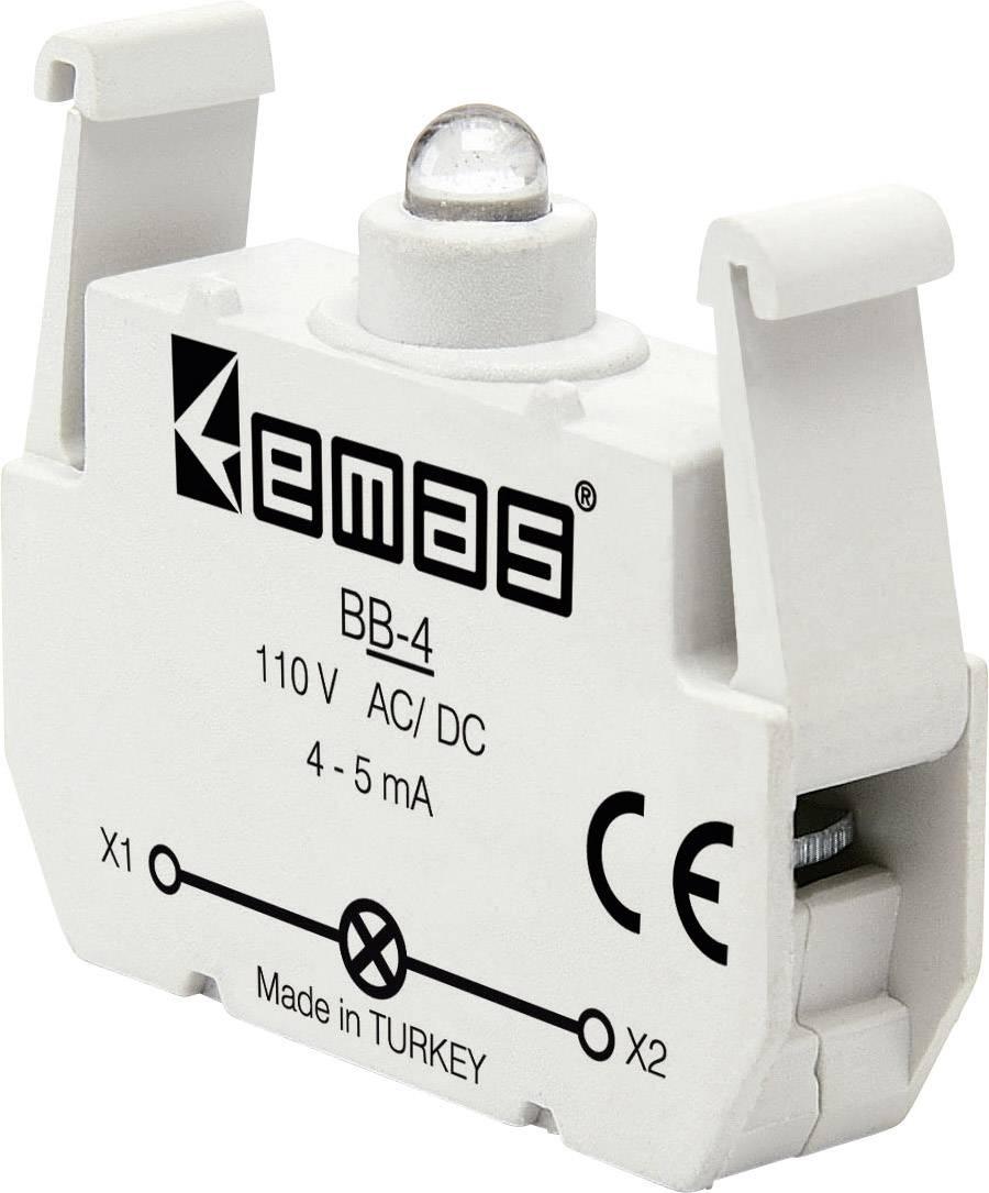LED element EMAS BB-4, biela, 110 V DC/AC, 1 ks