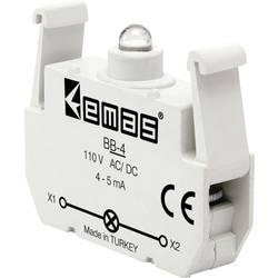 LED kontrolka EMAS BB-4, bílá, 110 V DC/AC, 1 ks