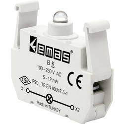 LED kontrolka EMAS BK, červená, 230 V/AC, 1 ks