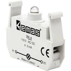 LED element EMAS BK-4, červená, 110 V DC/AC, 1 ks