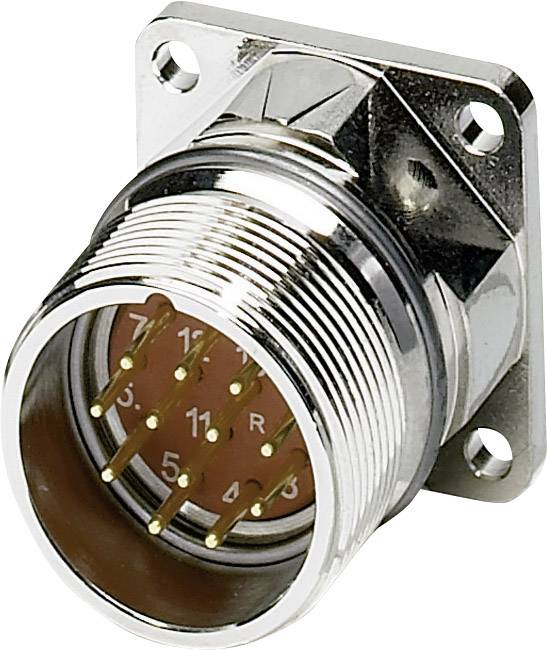M23 konektor zařízení. rovná Phoenix Contact RF-12P2N8AWB00 1607817, stříbrná, 1 ks