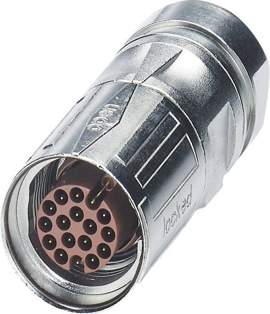 M17 kabelový konektor Phoenix Contact ST-17P1N8A8005S 1624529, stříbrná, 1 ks