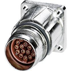 M17 Compact přístroj konektor přední montáž na stěnu Phoenix Contact ST-17S1N8AW400S 1607653, stříbrná, 1 ks