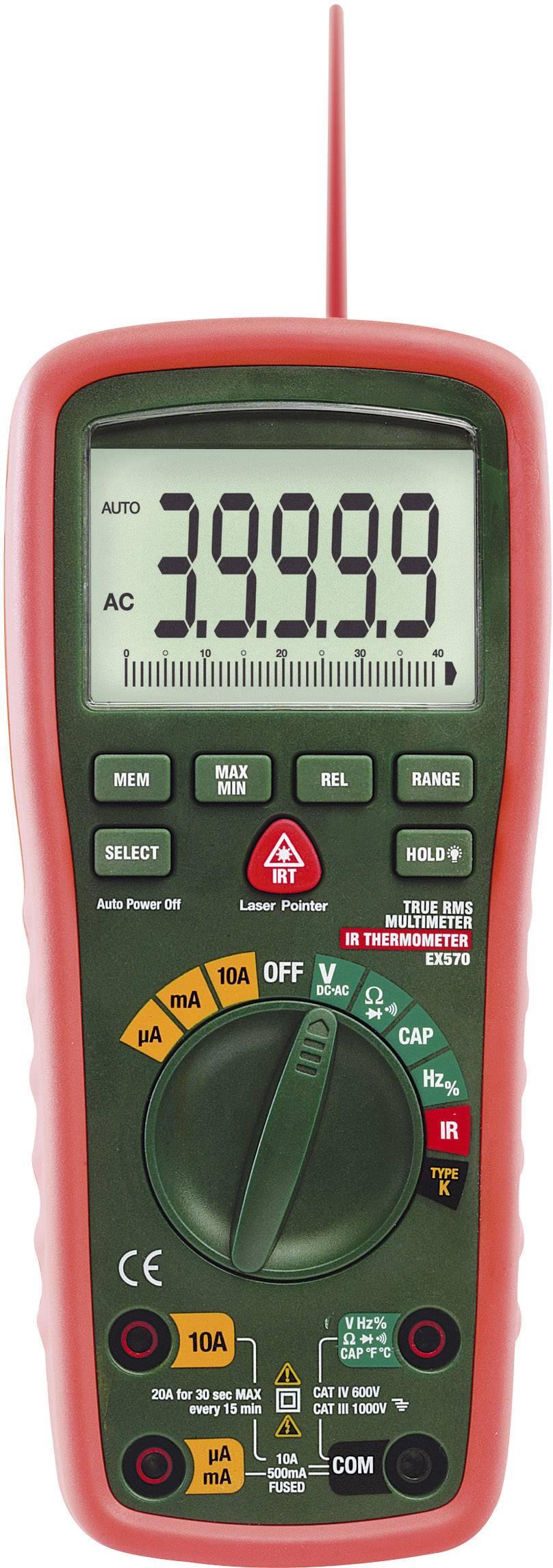 Digitálne/y ručný multimeter Extech EX570 EX570-EU, IR teplomer