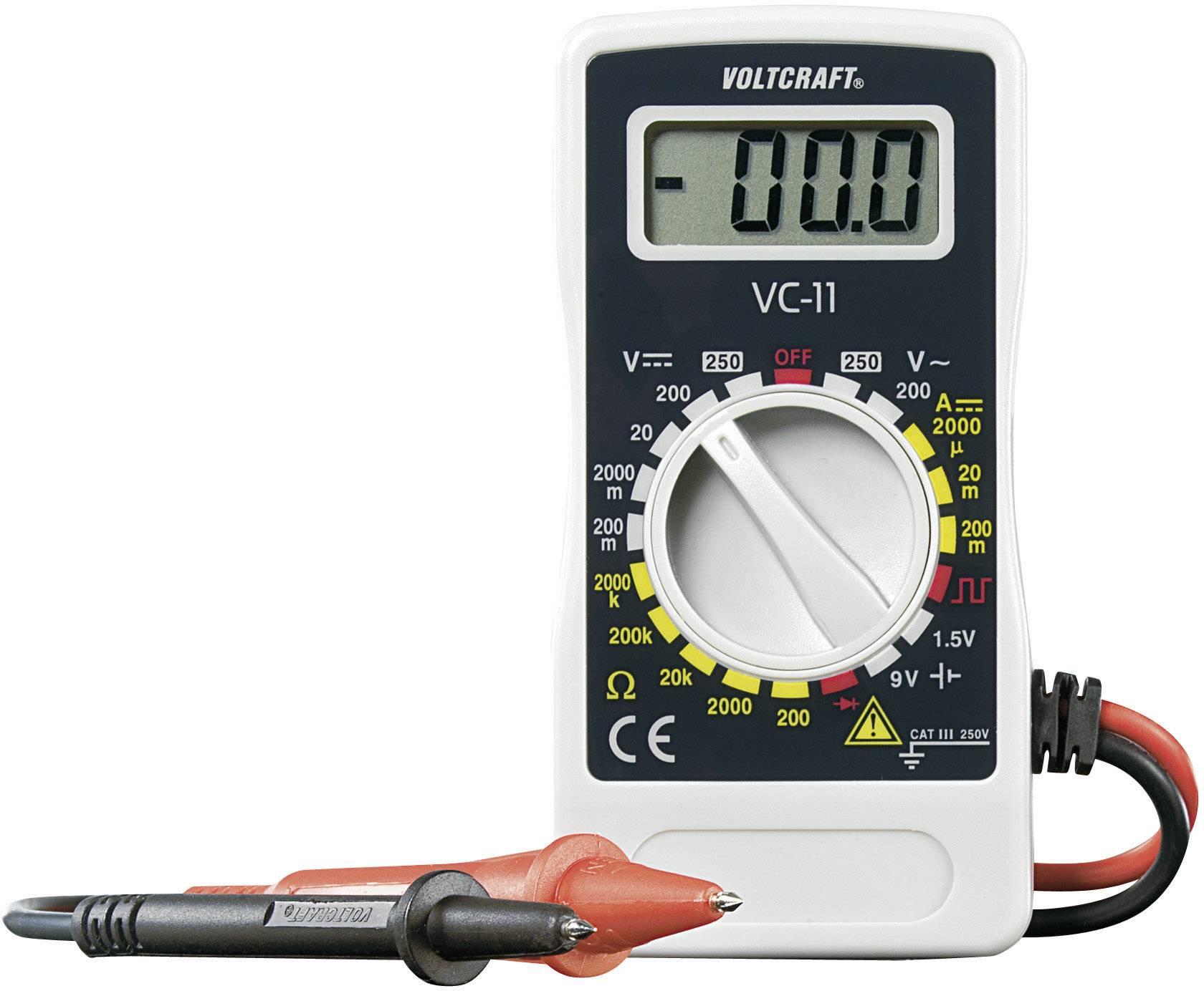 Digitálne/y ručný multimeter VOLTCRAFT VC-11 VC11