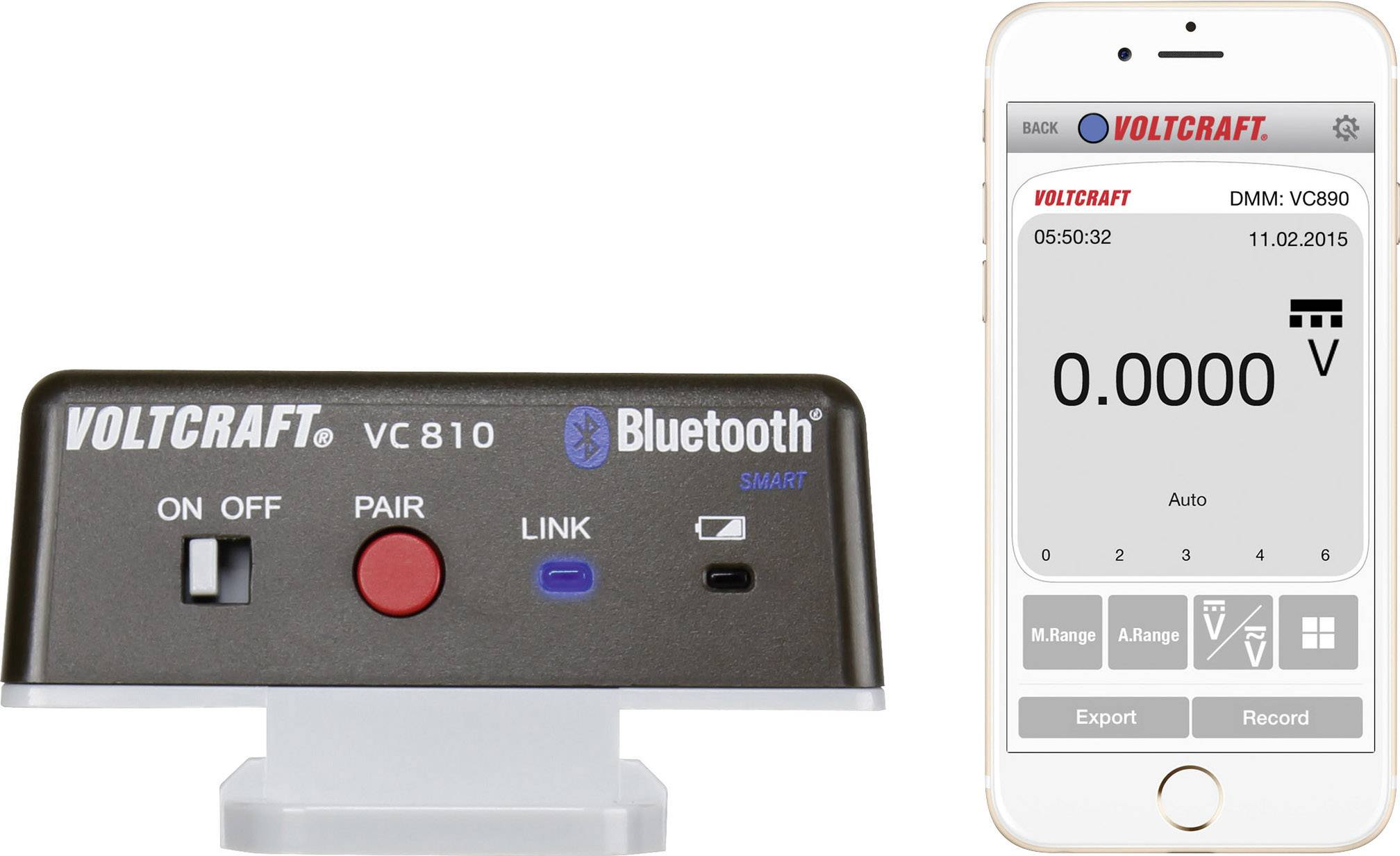 Bezdrátový adaptér Voltcraft VC810, Bluetooth 4.0
