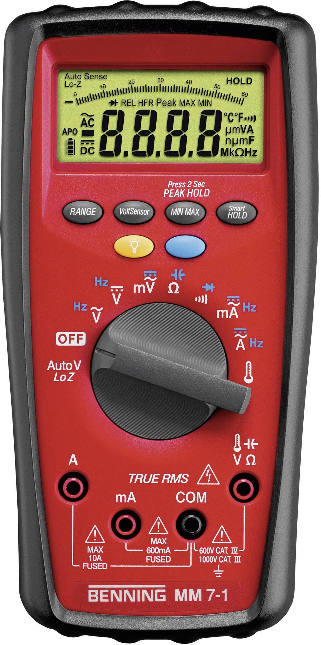 Digitálne/y ručný multimeter Benning MM 7-1 044085