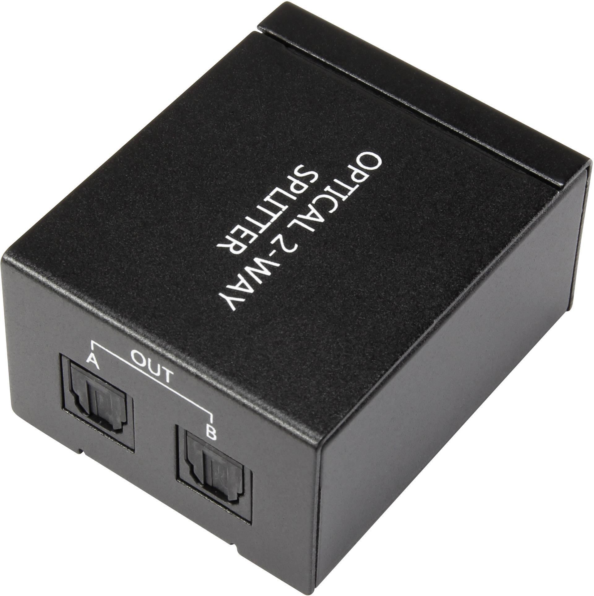 HDMI splitter Toslink SpeaKa, 2 porty, černá