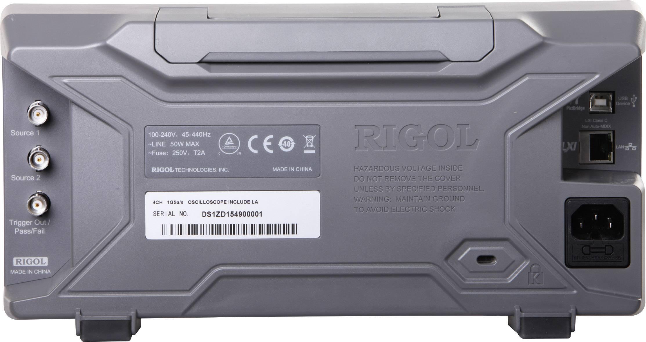 Digitálny osciloskop Rigol MSO1074Z-S, 70 MHz, 20-kanálový