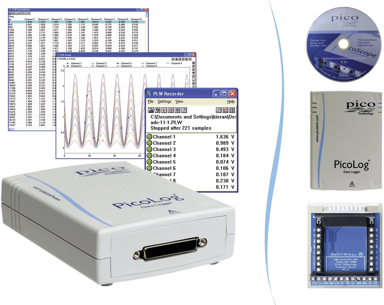 Multikanálový napäťový datalogger pico PicoLog® 1216 USB, 0 - 2.5 V/DC