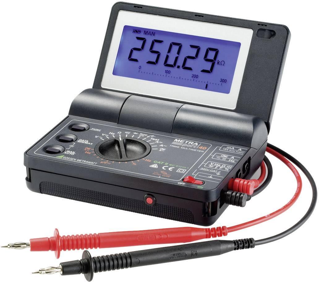 Digitálne/y ručný multimeter Gossen Metrawatt METRAport 40S M234D, kalibrácia podľa DAkkS