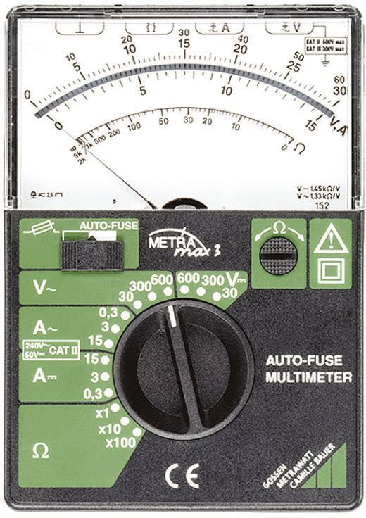 Analógový ručný multimeter Gossen Metrawatt Metramax 3 M103A, automatická poistka