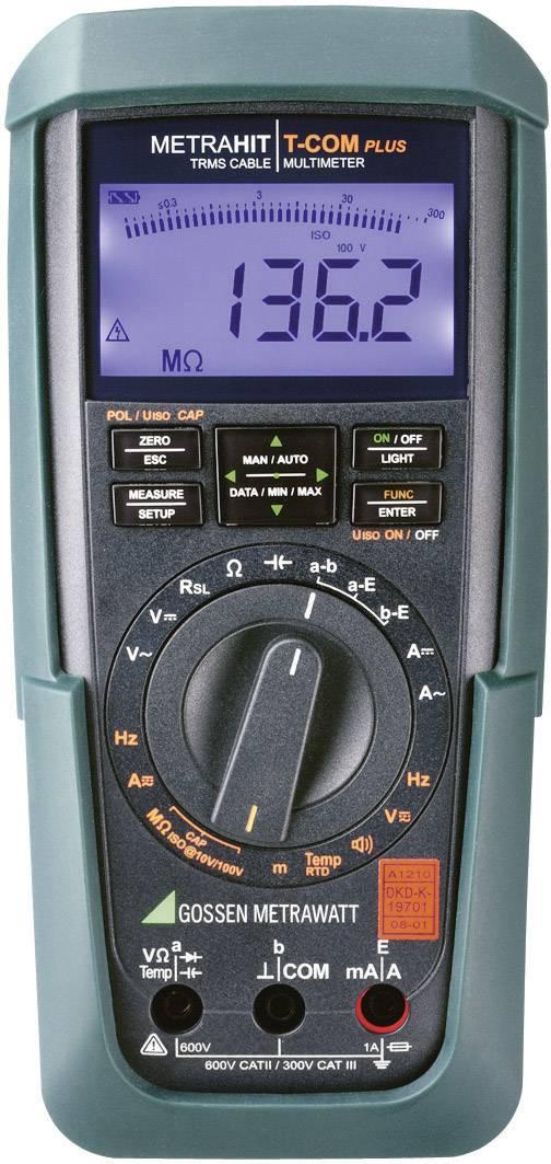 Digitálne/y ručný multimeter Gossen Metrawatt METRAHIT T Com plus M246S, kalibrácia podľa DAkkS
