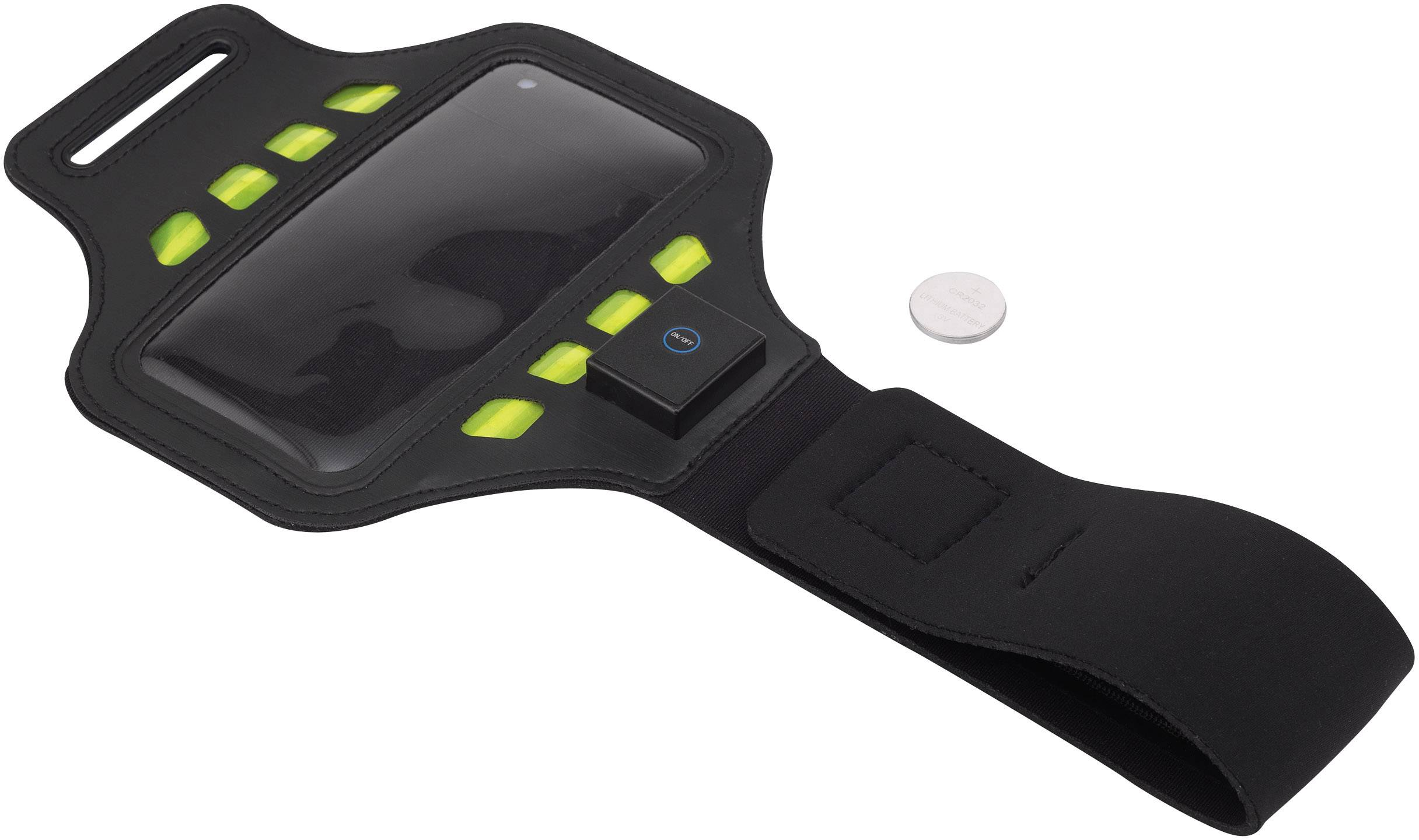 Športové puzdro na smartfón, s osvetlením, Renkforce TWNT-IP5