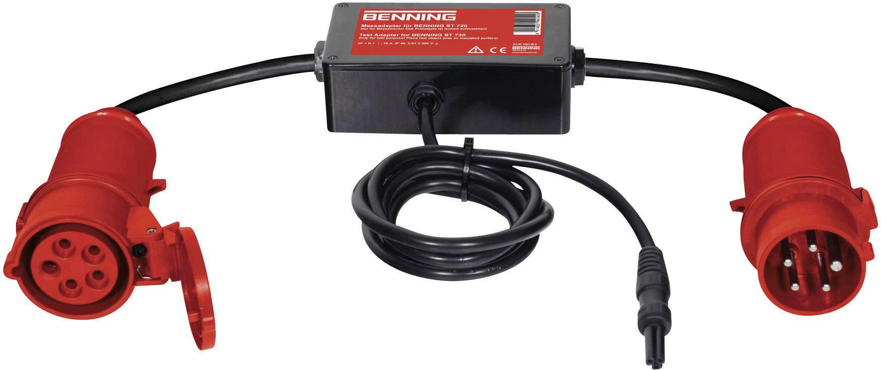 Aktivní měřicí adaptér Benning, 16 A CEE, 3 fázový