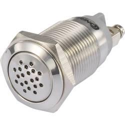 Miniaturní bzučák, TRU COMPONENTS GQ19B-SM/R/12V, podsvícený, stálý tón, 75 dB, 12 V/DC, 19 mm, 1 ks