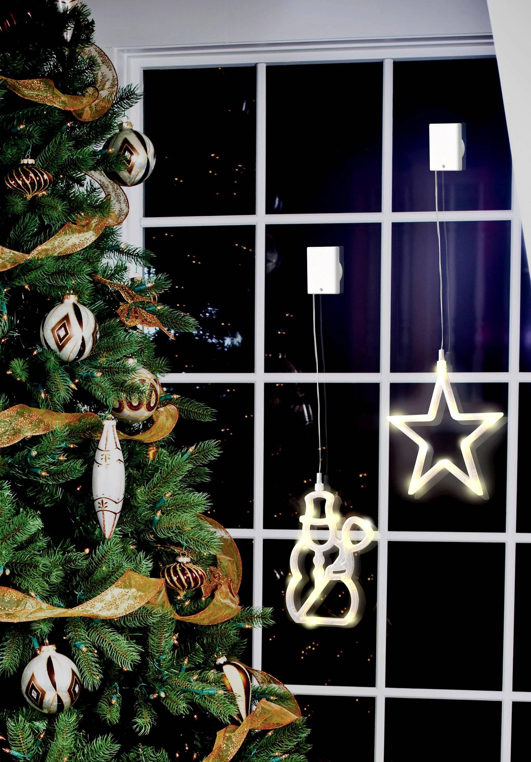 Vianočné LED osvetlenie do okna Polarlite LBA-50-009, snehuliak
