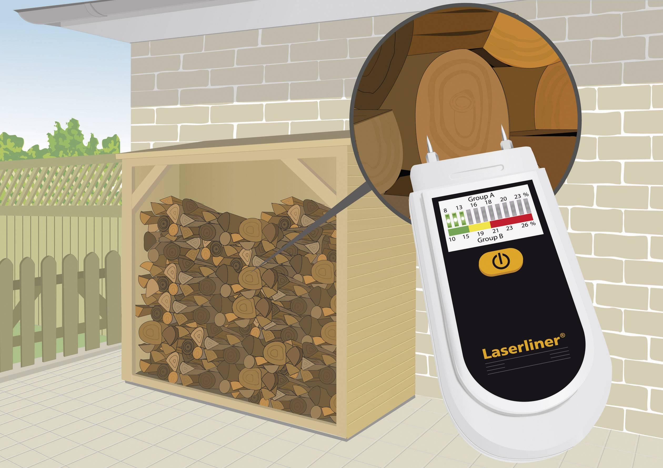 Merač vlhkosti dreva a materiálu Laserliner WoodTester