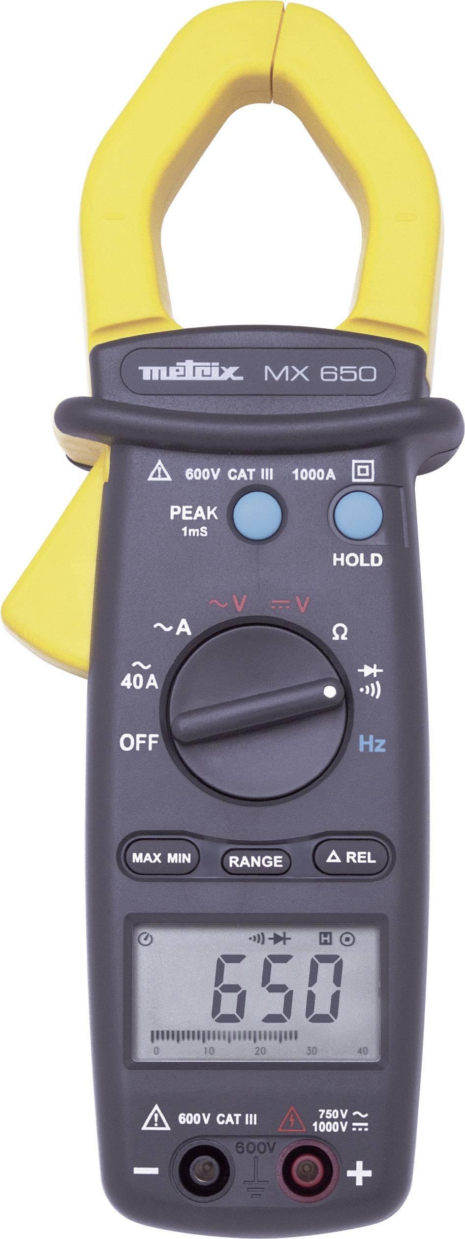 Prúdové kliešte, ručný multimeter Metrix MX0650-Z
