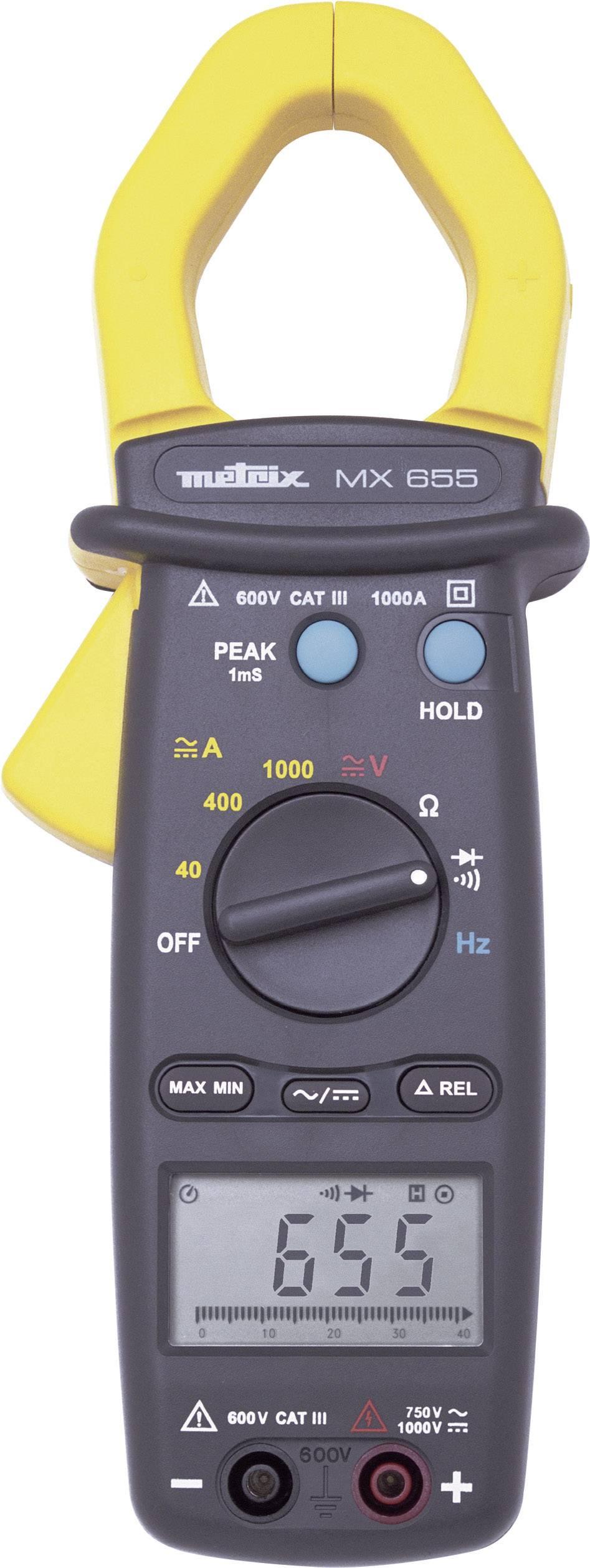 Prúdové kliešte, ručný multimeter Metrix MX0655-Z