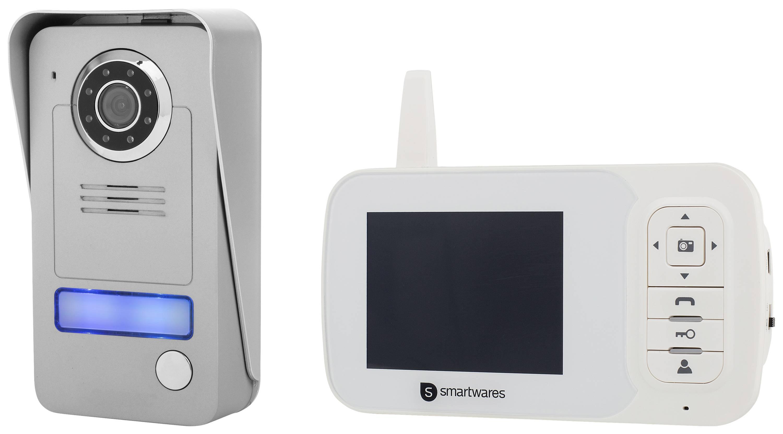 Domový video telefón rádiový kompletná sada, Smartwares VD38W 1 rodina, šedá, strieborná