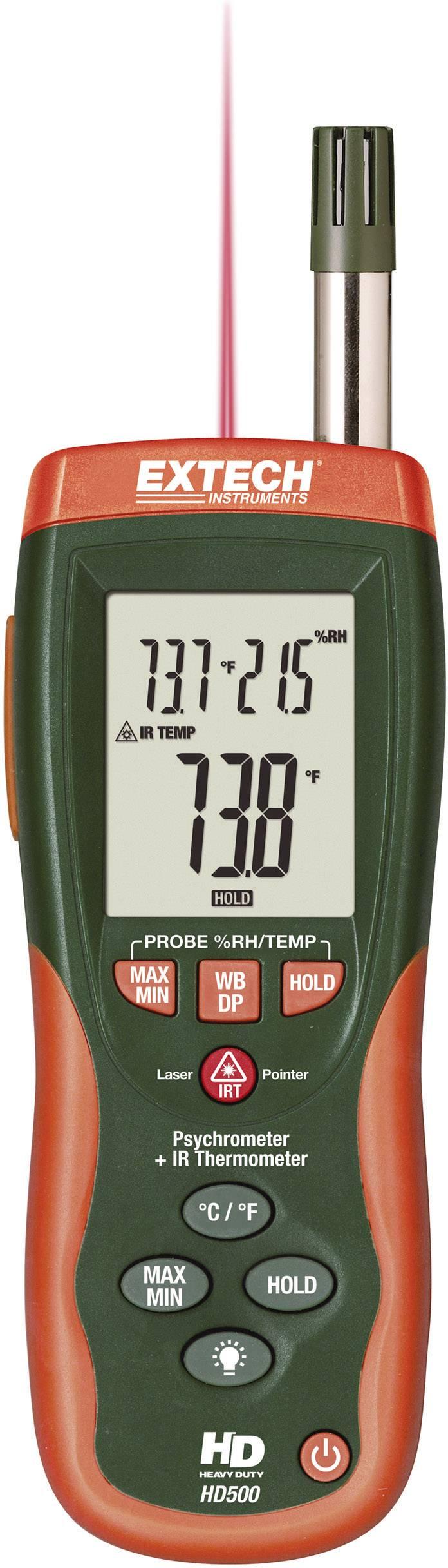 IR teploměr/vlhkoměr Extech HD500